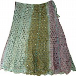 Shaded Fashion Silk Long Indian Skirt